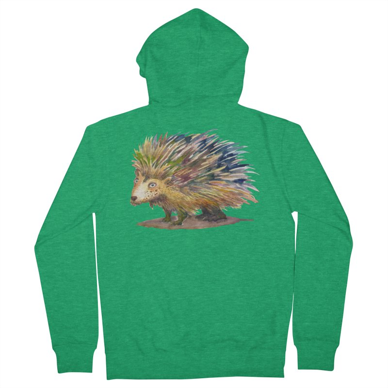 Porcupine Pete Men's Zip-Up Hoody by dotsofpaint threads