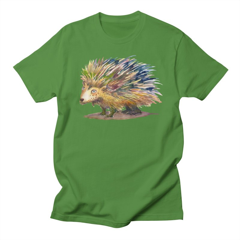 Porcupine Pete Men's T-Shirt by dotsofpaint threads