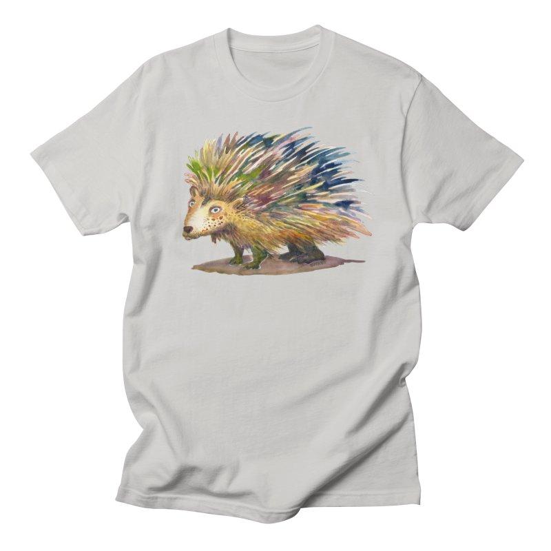 Porcupine Pete Men's Regular T-Shirt by dotsofpaint threads