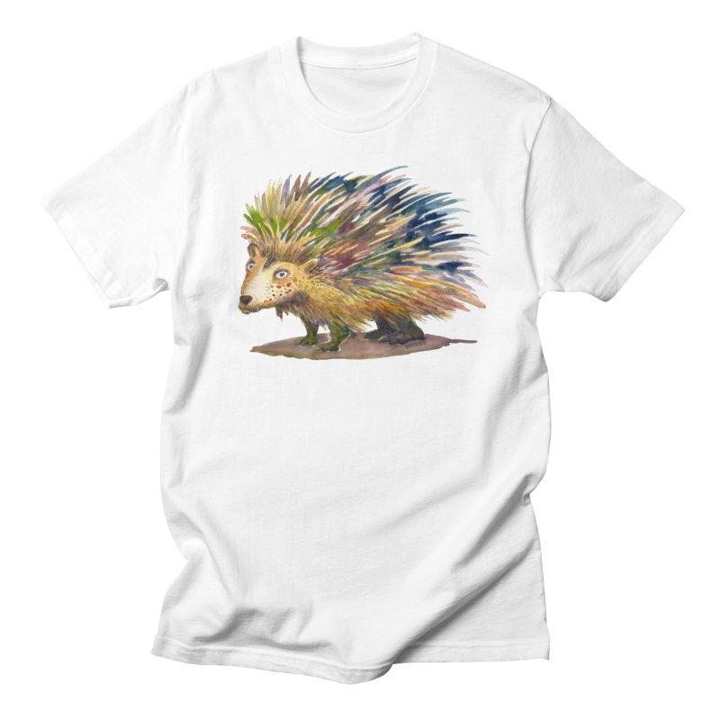 Porcupine Pete Men's T-Shirt by dotsofpaint threads