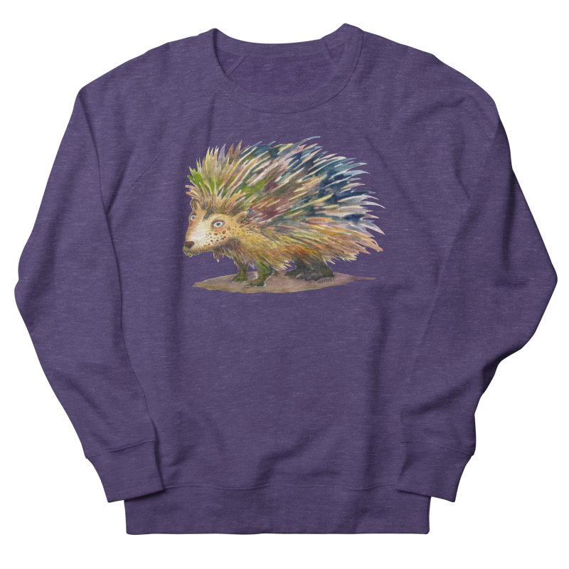 Porcupine Pete Men's French Terry Sweatshirt by dotsofpaint threads