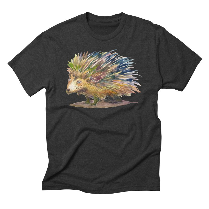 Porcupine Pete Men's Triblend T-Shirt by dotsofpaint threads