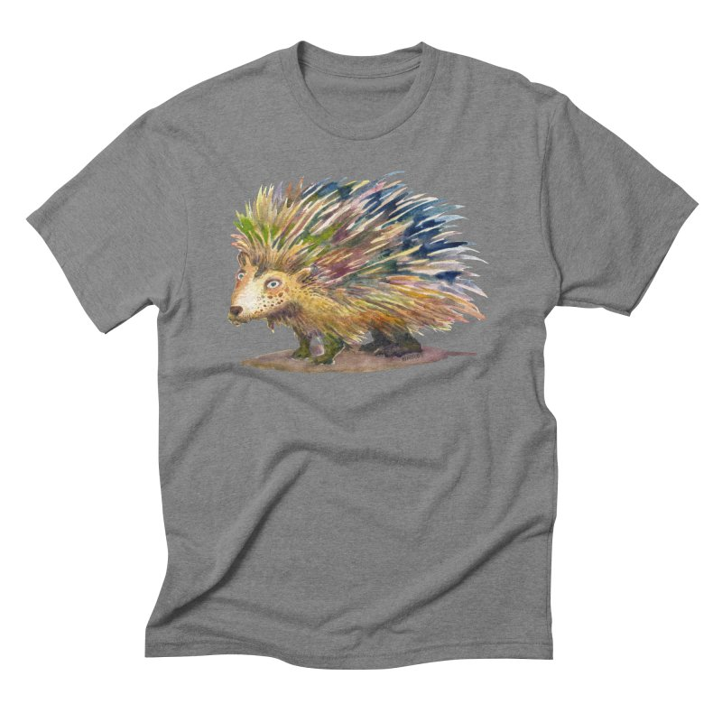 Porcupine Pete Men's Triblend T-Shirt by dotsofpaint threads