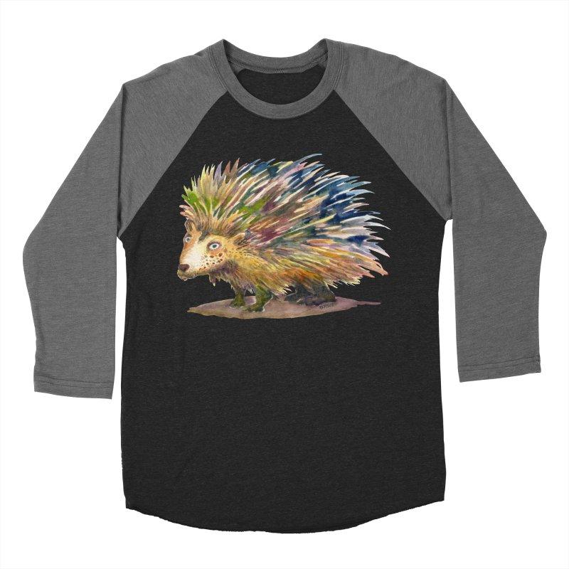 Porcupine Pete Women's Baseball Triblend Longsleeve T-Shirt by dotsofpaint threads