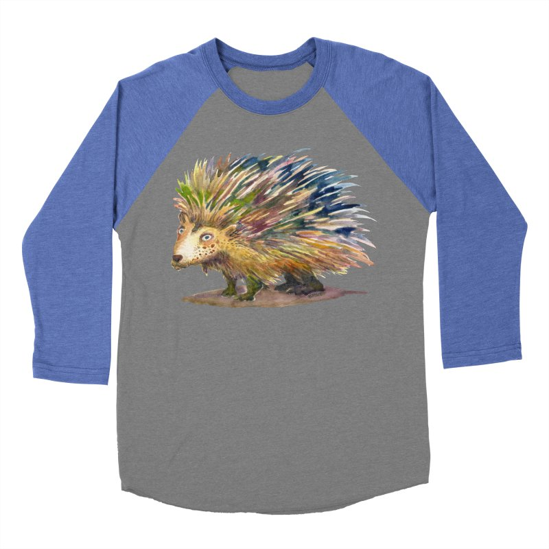 Porcupine Pete Men's Baseball Triblend Longsleeve T-Shirt by dotsofpaint threads