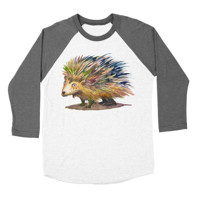 Porcupine Pete Men's Baseball Triblend Longsleeve T-Shirt by dotsofpaint threads