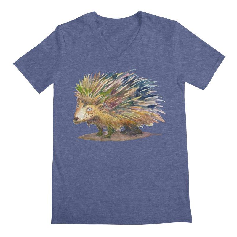 Porcupine Pete Men's V-Neck by dotsofpaint threads