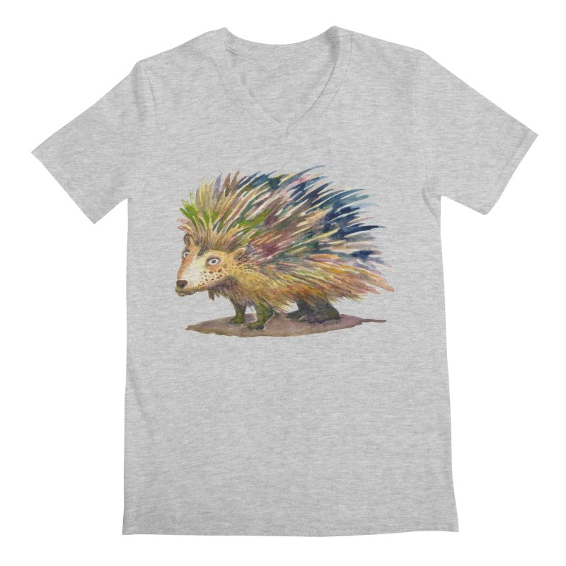 Porcupine Pete Men's Regular V-Neck by dotsofpaint threads