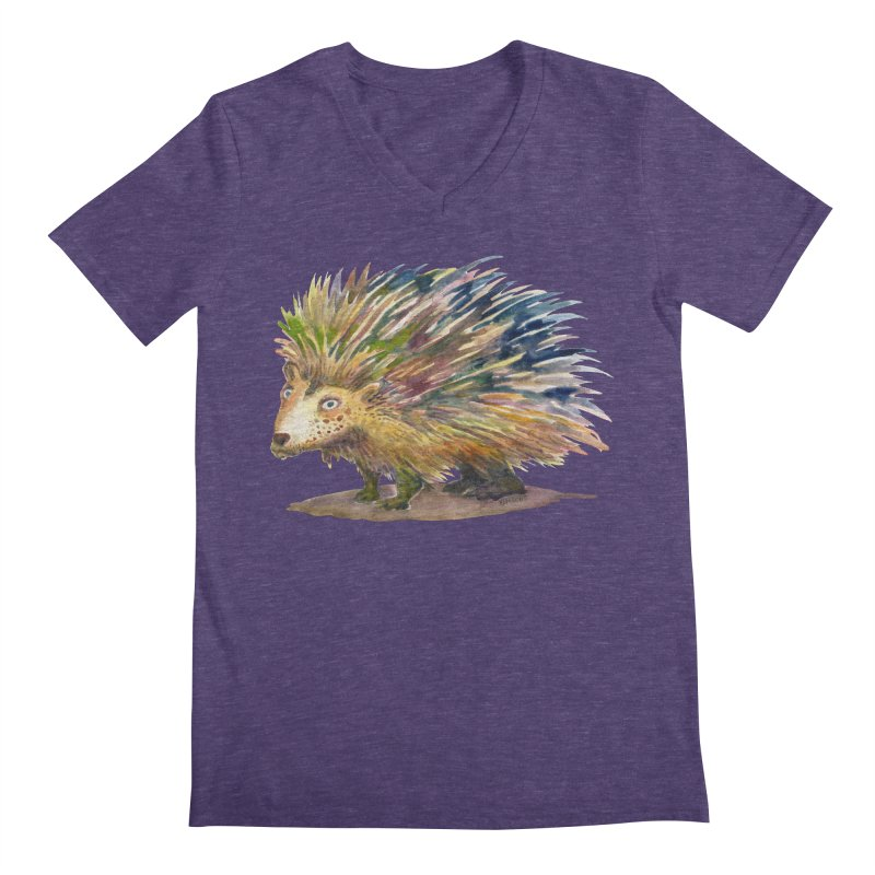 Porcupine Pete Men's V-Neck by dotsofpaint threads