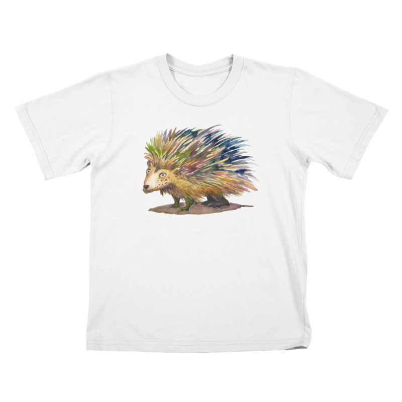 Porcupine Pete Kids T-Shirt by dotsofpaint threads