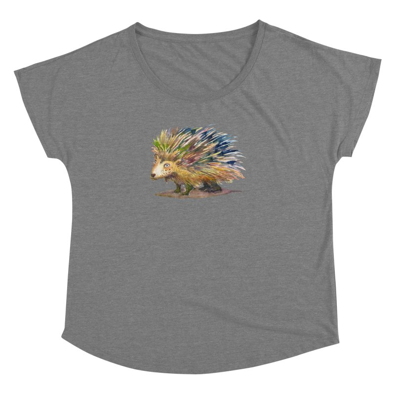 Porcupine Pete Women's Dolman Scoop Neck by dotsofpaint threads