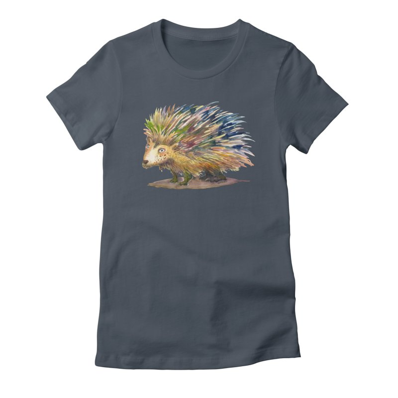 Porcupine Pete Women's T-Shirt by dotsofpaint threads
