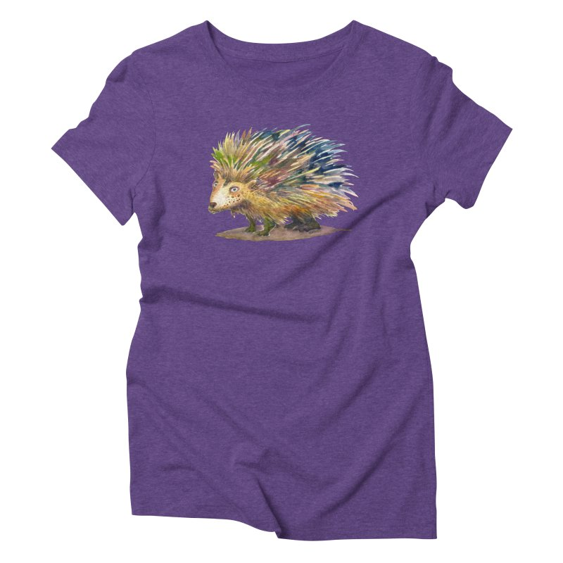 Porcupine Pete Women's Triblend T-Shirt by dotsofpaint threads