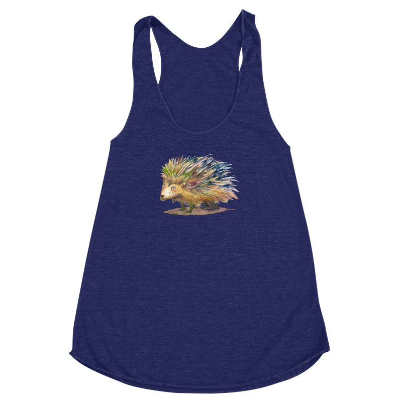 Porcupine Pete Women's Racerback Triblend Tank by dotsofpaint threads