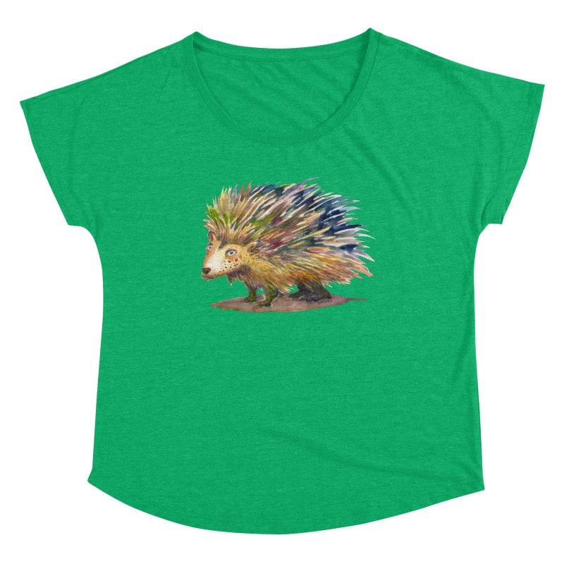 Porcupine Pete Women's Scoop Neck by dotsofpaint threads