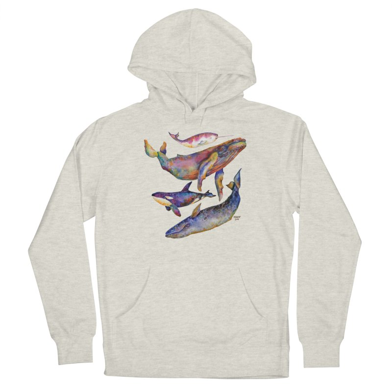 Four Whale Pyramid Women's Pullover Hoody by dotsofpaint threads