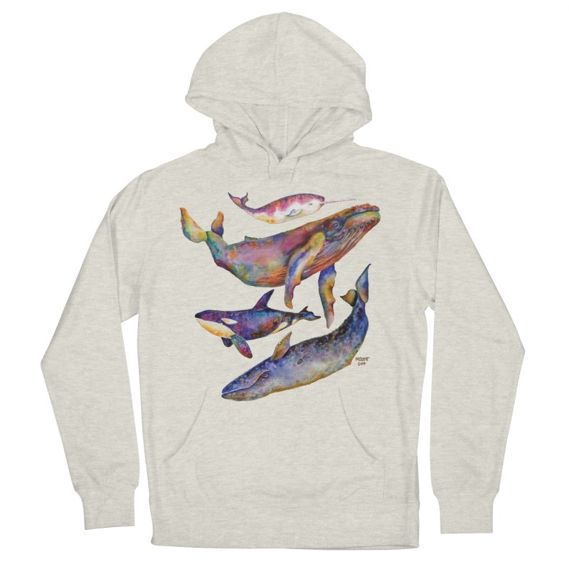 Four Whale Pyramid Women's French Terry Pullover Hoody by dotsofpaint threads