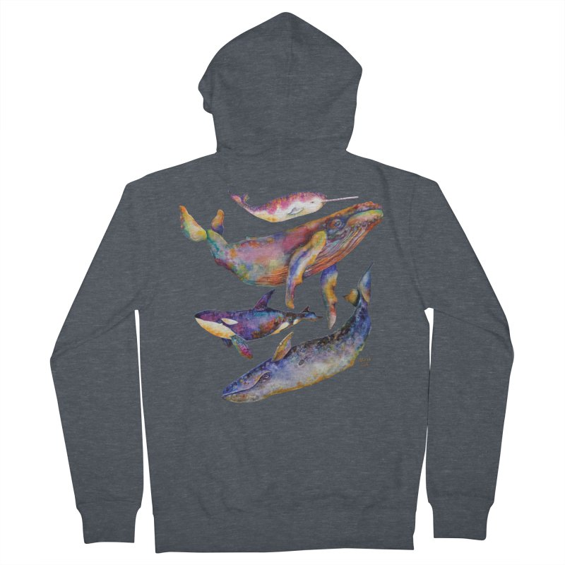 Four Whale Pyramid Women's French Terry Zip-Up Hoody by dotsofpaint threads