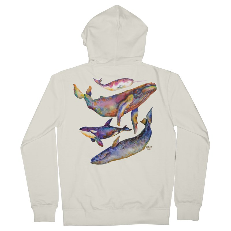 Four Whale Pyramid Women's Zip-Up Hoody by dotsofpaint threads