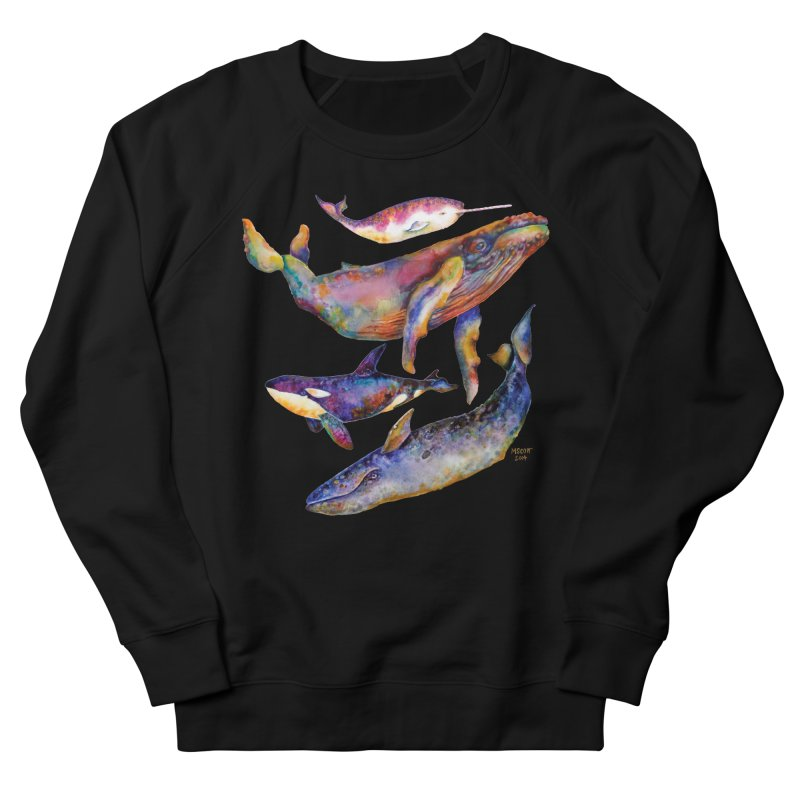 Four Whale Pyramid Women's Sweatshirt by dotsofpaint threads