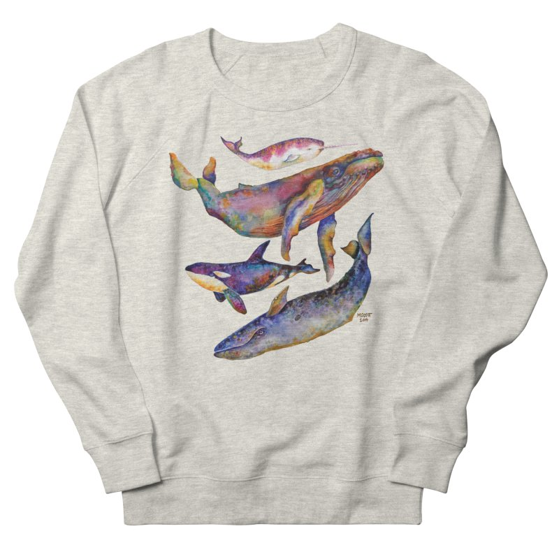 Four Whale Pyramid Women's French Terry Sweatshirt by dotsofpaint threads