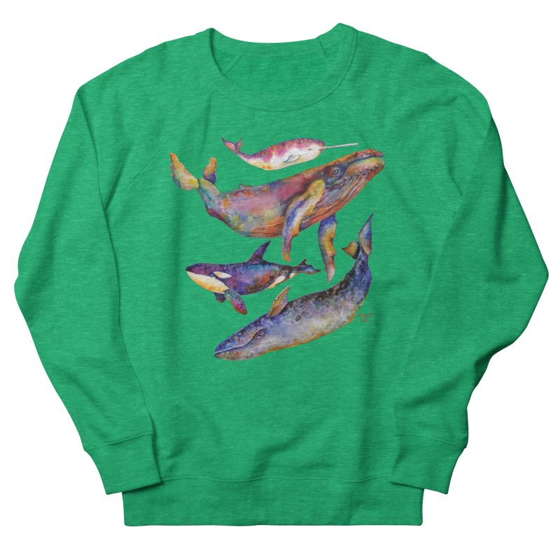 Four Whale Pyramid Men's French Terry Sweatshirt by dotsofpaint threads