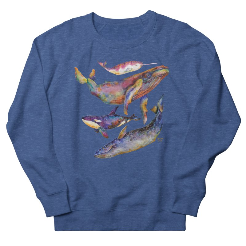 Four Whale Pyramid Men's Sweatshirt by dotsofpaint threads