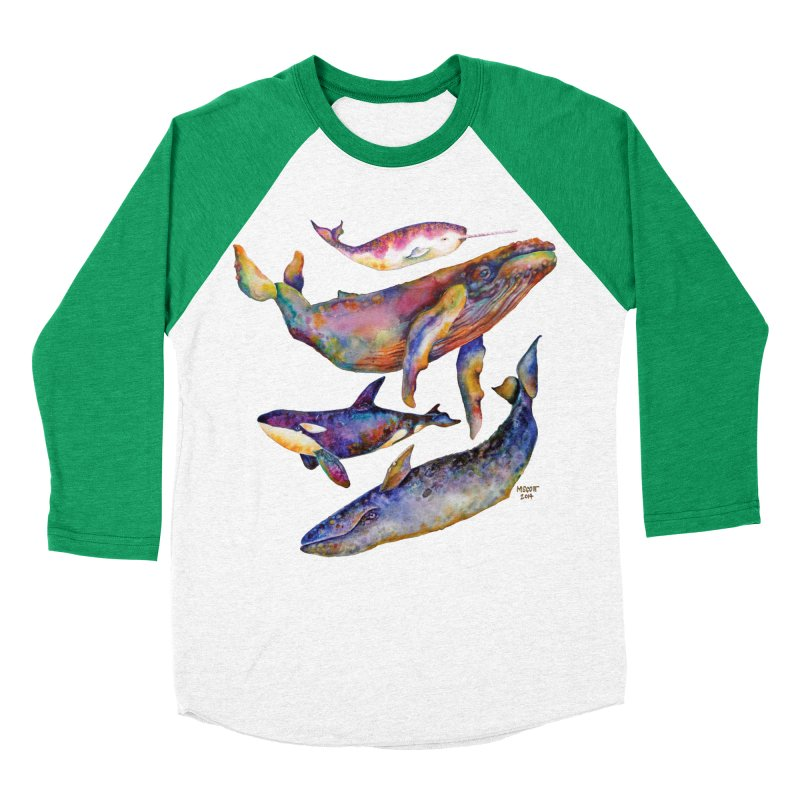 Four Whale Pyramid Women's Baseball Triblend Longsleeve T-Shirt by dotsofpaint threads