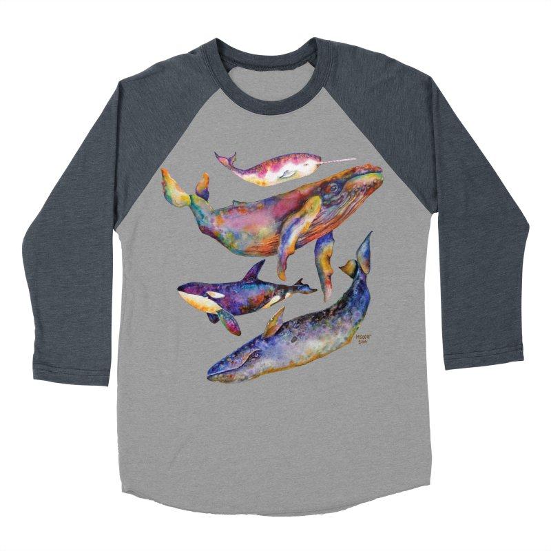 Four Whale Pyramid Men's Baseball Triblend Longsleeve T-Shirt by dotsofpaint threads