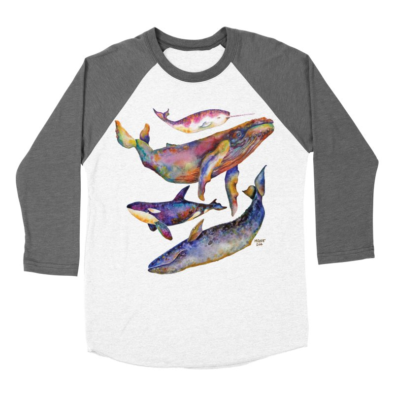 Four Whale Pyramid Men's Baseball Triblend Longsleeve T-Shirt by dotsofpaint threads