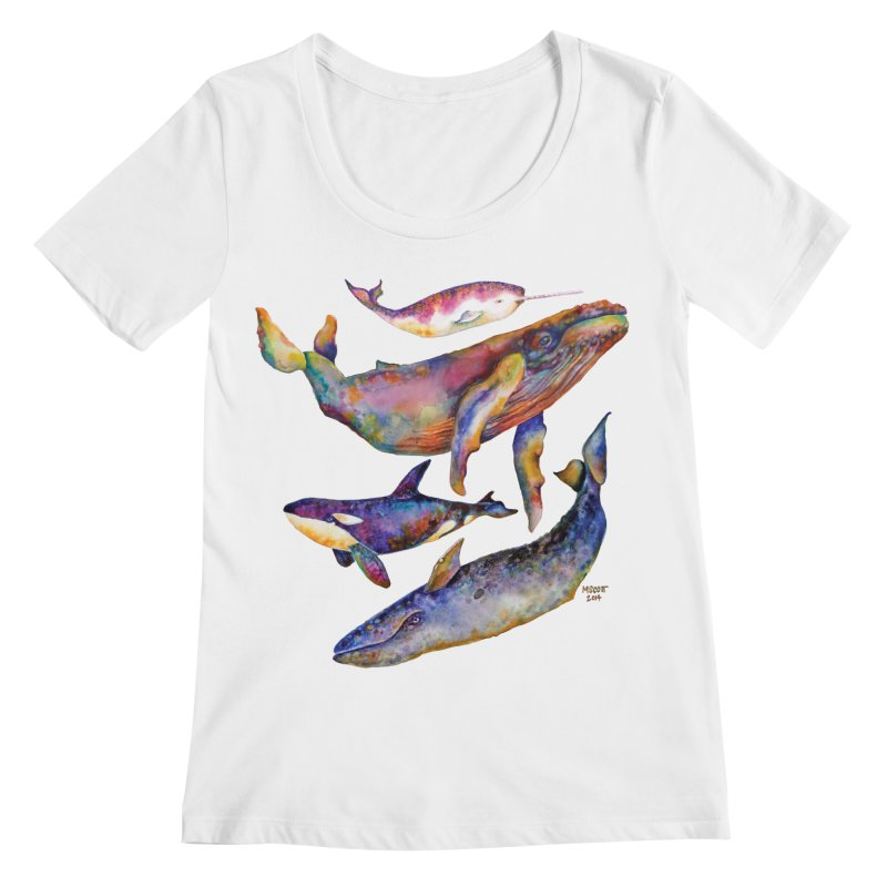 Four Whale Pyramid Women's Regular Scoop Neck by dotsofpaint threads