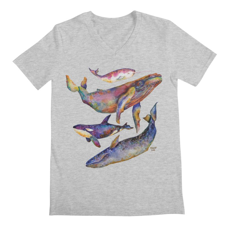 Four Whale Pyramid Men's Regular V-Neck by dotsofpaint threads