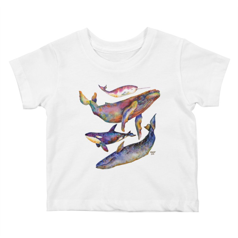 Four Whale Pyramid Kids Baby T-Shirt by dotsofpaint threads