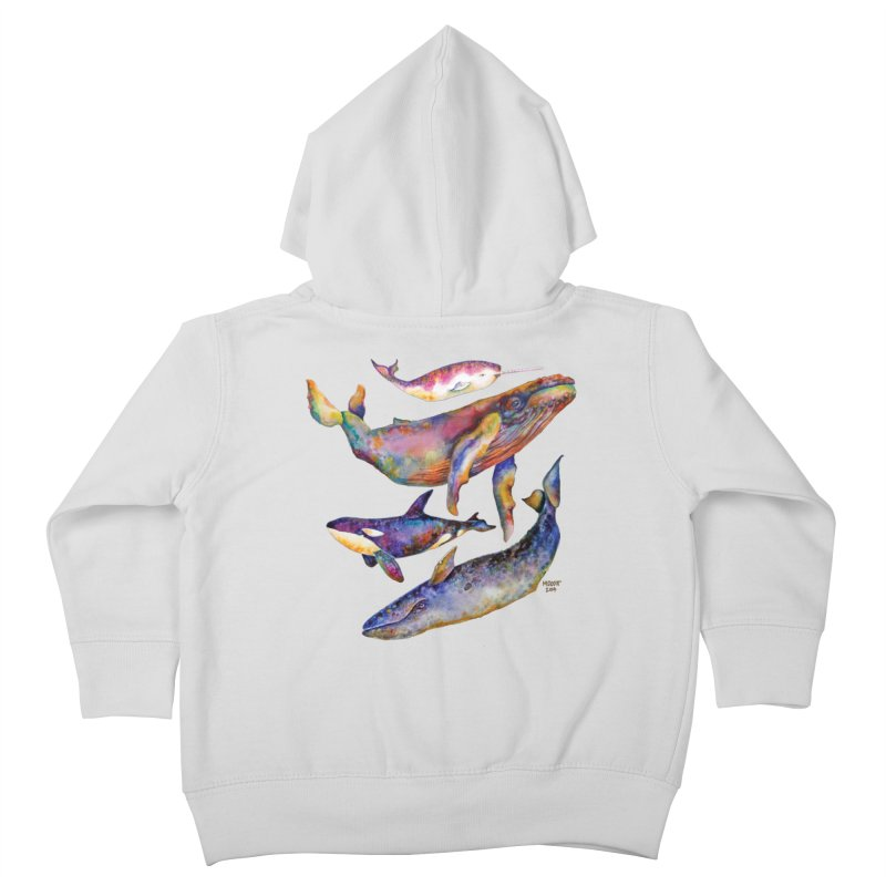 Four Whale Pyramid Kids Toddler Zip-Up Hoody by dotsofpaint threads