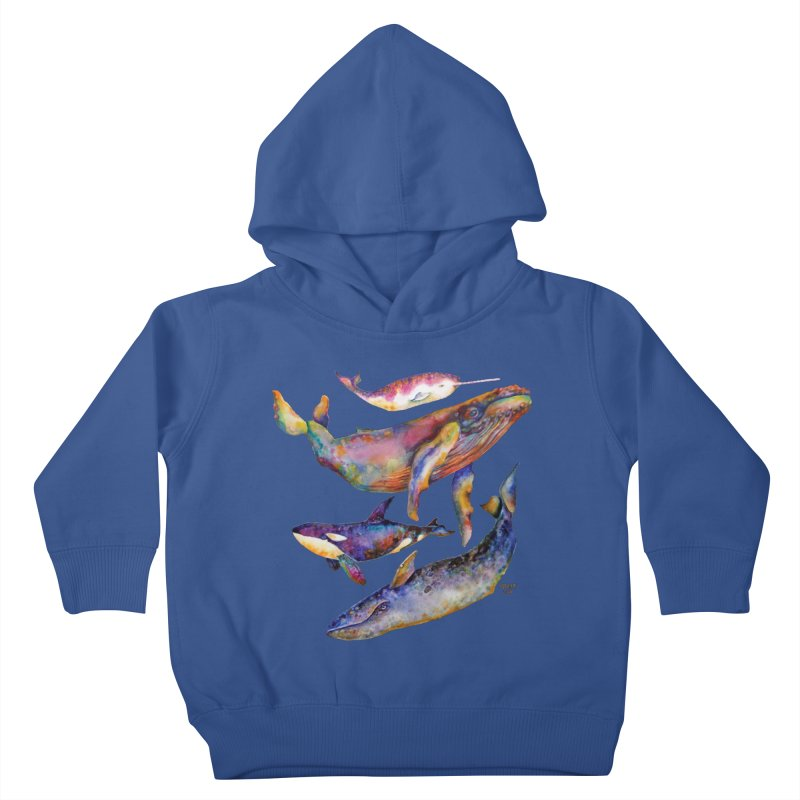 Four Whale Pyramid Kids Toddler Pullover Hoody by dotsofpaint threads