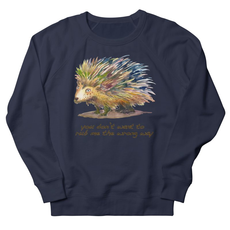You don't want to rub me the wrong way Men's French Terry Sweatshirt by dotsofpaint threads