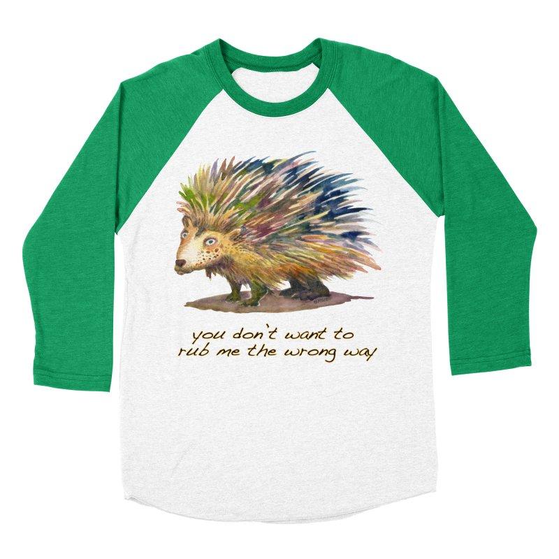 You don't want to rub me the wrong way Women's Baseball Triblend Longsleeve T-Shirt by dotsofpaint threads