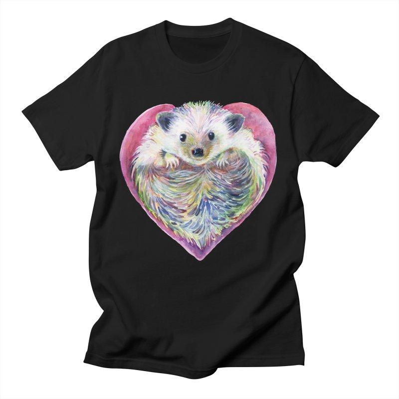 HedgeHog Heart by Michelle Scott of Dotsofpaint Studios Men's T-Shirt by dotsofpaint threads