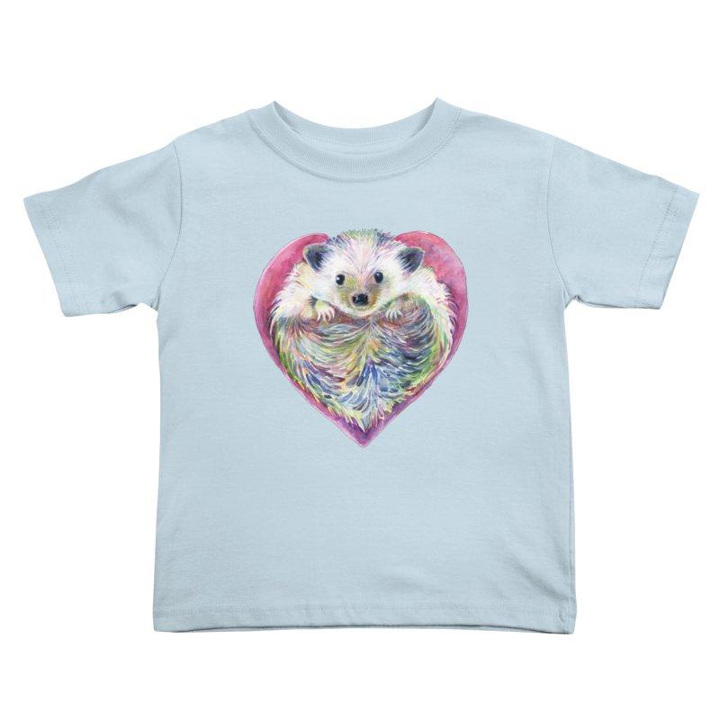 HedgeHog Heart by Michelle Scott of Dotsofpaint Studios Kids Toddler T-Shirt by dotsofpaint threads