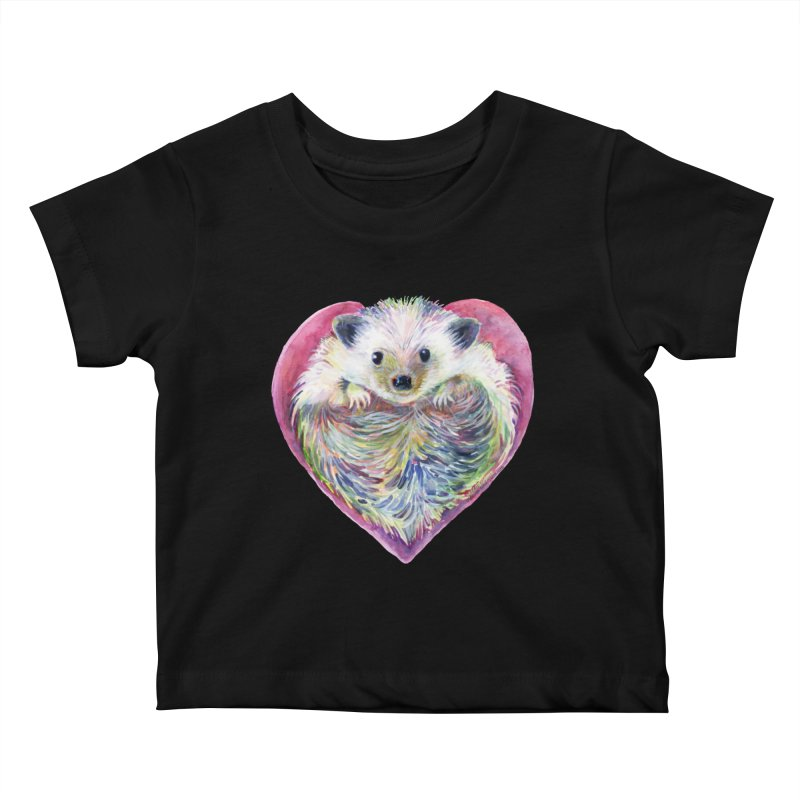 HedgeHog Heart by Michelle Scott of Dotsofpaint Studios Kids Baby T-Shirt by dotsofpaint threads