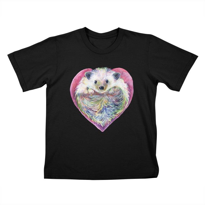 HedgeHog Heart by Michelle Scott of Dotsofpaint Studios Kids T-Shirt by dotsofpaint threads
