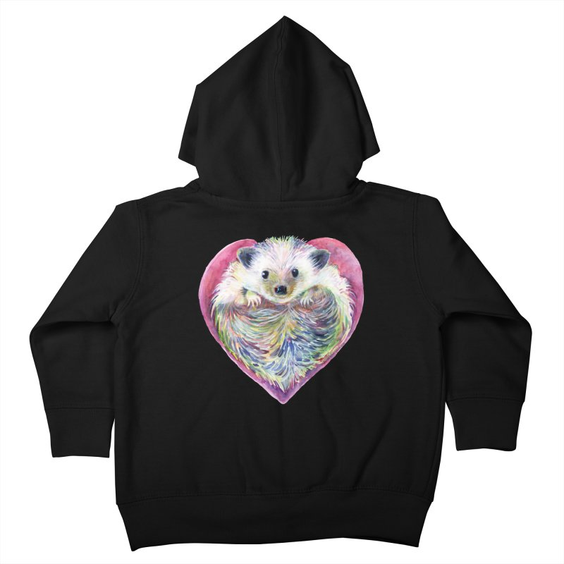 HedgeHog Heart by Michelle Scott of Dotsofpaint Studios Kids Toddler Zip-Up Hoody by dotsofpaint threads