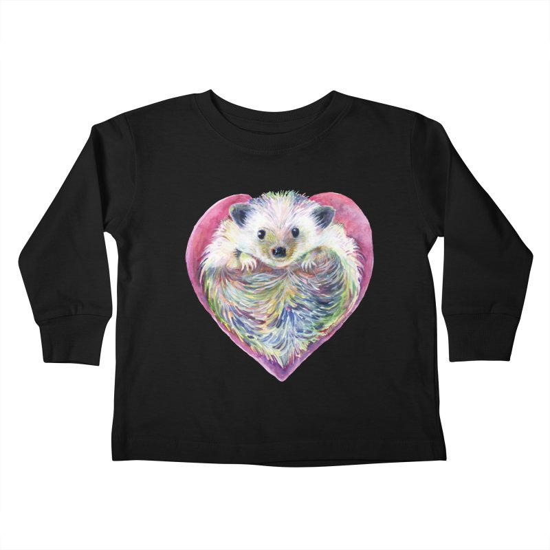 HedgeHog Heart by Michelle Scott of Dotsofpaint Studios Kids Toddler Longsleeve T-Shirt by dotsofpaint threads