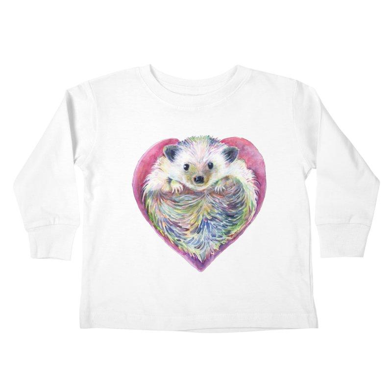 HedgeHog Heart by Michelle Scott of Dotsofpaint Studios Kids Toddler Longsleeve T-Shirt by dotsofpaint threads