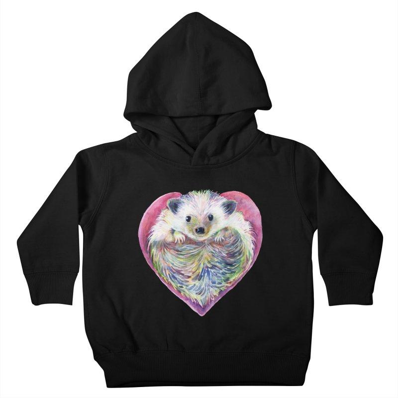HedgeHog Heart by Michelle Scott of Dotsofpaint Studios Kids Toddler Pullover Hoody by dotsofpaint threads