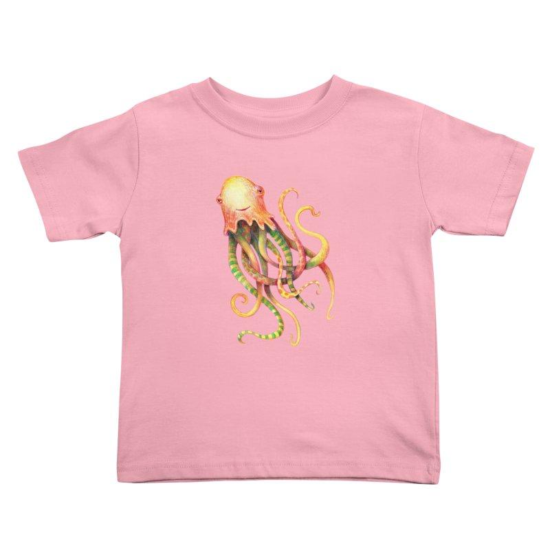 Octopus 2018 Kids Toddler T-Shirt by dotsofpaint threads