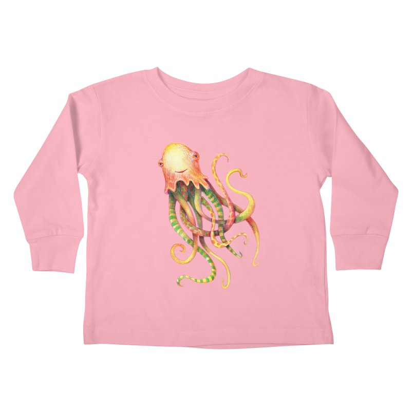 Octopus 2018 Kids Toddler Longsleeve T-Shirt by dotsofpaint threads