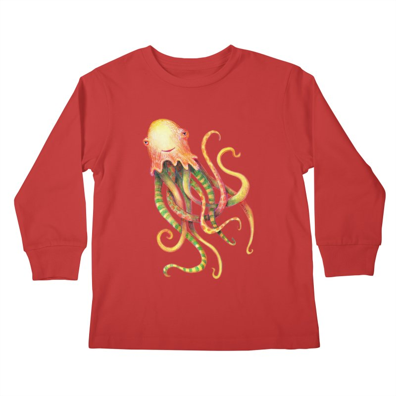 Octopus 2018 Kids Longsleeve T-Shirt by dotsofpaint threads