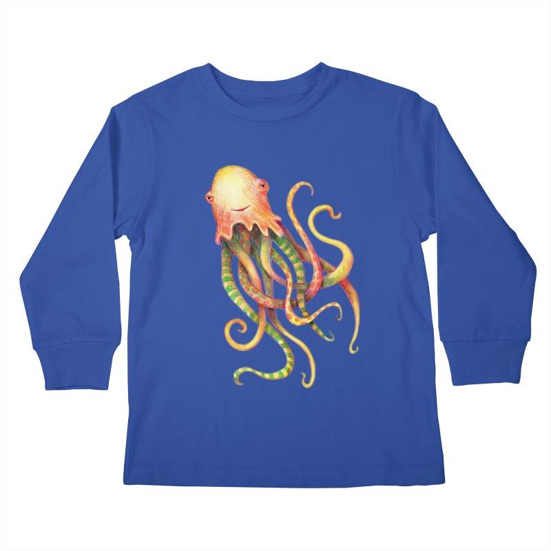 Octopus 2018 Kids Longsleeve T-Shirt by dotsofpaint threads