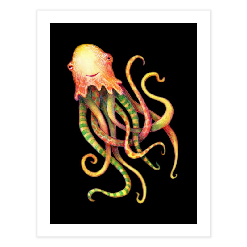 Octopus 2018 Home Fine Art Print by dotsofpaint threads